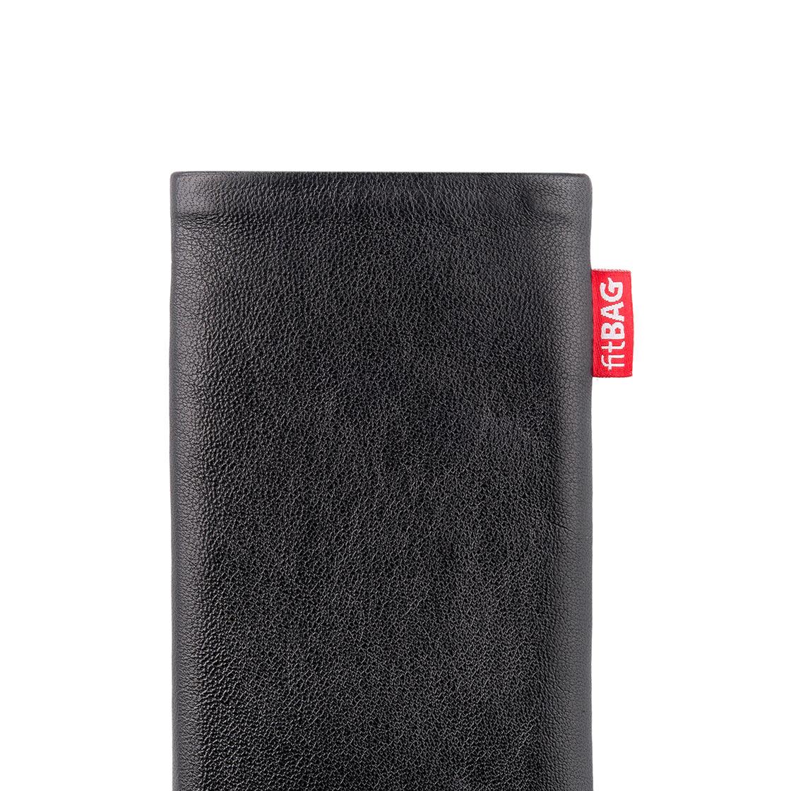 H/ülle mit Reinigungsfunktion Made in Germany fitBAG Folk Rot Handytasche Tasche aus feinem Wildleder Echtleder mit Microfaserinnenfutter f/ür Samsung Galaxy S20 Ultra 5G