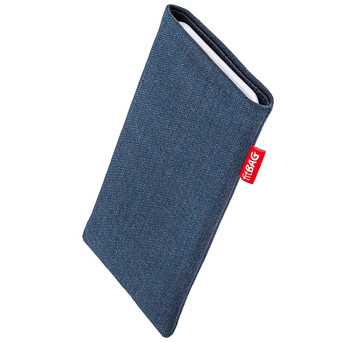 fitBAG Jive Bleu en Tissu Pochette customis/ée adapt/ée Housse de Protection pour Huawei P30 Pro Doublure en Microfibre pour Le Nettoyage de l/'/écran Fabriqu/é en Allemagne